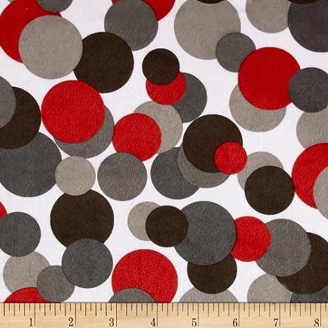 EZ Fabrics E.Z Yard White//Blue//Lime Fabric Minky Candy Circles