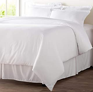 Tektrum 5 Piece 5pc Duvet Cover Set with Button Enclosure - Wrinkle & Fade Resistant, 1800 Supreme Collection Super Soft Hotel Luxury Top Quality Durable 100 GSM Brushed Microfiber - White, King Size