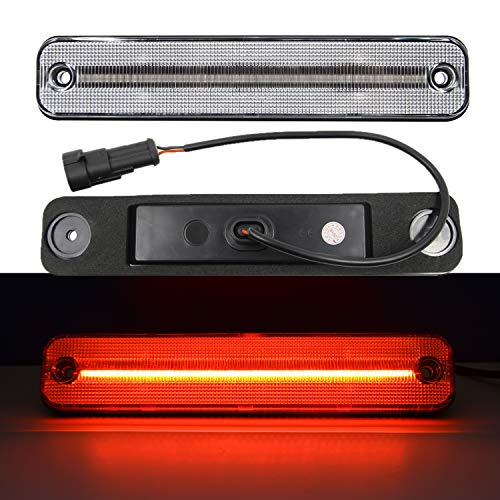 NSLUMO Amber Red Led Side Marker Light for 2003-2009 Hummer H2 Clear Lens Led Sidemarker Lamps Direct OEM Replacement