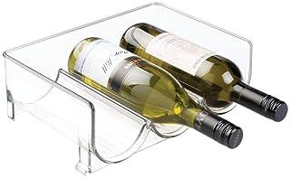 Fridge Wine Rack 4 Bottle Holder Storage Organizer Shelf for Refrigerator