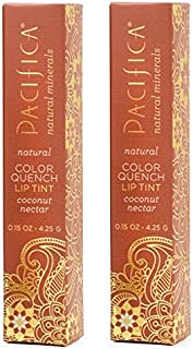 Pacifica Color Quench Coconut Nectar Lip Tint (Pack of 2) with Coconut Oil, Candelilla Wax, Cocoa Seed Butter and Vitamin E, 0.15 oz.