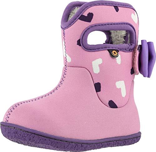 Bogs Kids Baby Girl's Baby Bogs Hearts (Toddler) Pink Multi 6 Toddler M