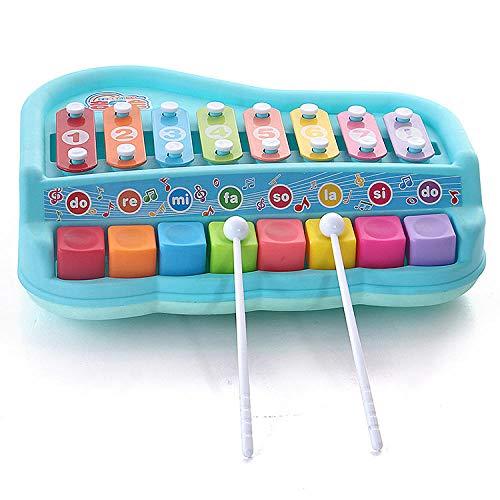 FLHLH Babyspielzeug Erleuchten Sie Xylophon, Baby-Tastatur für frühes Lernen, Kinderpuzzle 8-Ton-Klopfspielzeug (0-10 Jahre), Baby-Musikspielzeug Schlagzeug Klavier Musikinstrument
