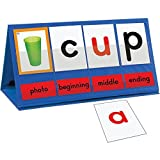 """Build and Change Words Using Picture Cues WHAT'S INCLUDED: 1 Desktop Pocket Chart/ Tent measuring 14.5"""" x 6.75"""", 38 2-sided letter cards, 46 2-sided photo cards and 9 sound position cards measuring 3"""" x 4"""". FUN PICTURES AND COLORS: 93 Color Coded Car..."""