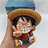 Modelo De Personaje One Piece Luffy Ace Childhood Lovely Tooth Sentado Pvc Figuras De Acción Op Luffy Than Gesture Collectibles Modelo 10Cm Figura De Acción Anime Pvc Figuras De Acción Para Adultos