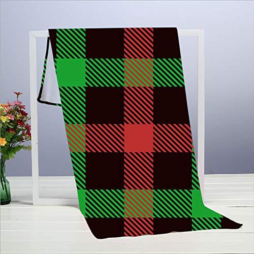 Weihnachten Tartan S Plaid The Arts Feiertage Handtücher 40 x 70 cm / 15,7 x 27,5 Zoll, Handtuch für Möbel, Badezimmer, Strand, Yoga, Camping, Schwimmen, Sport, Hotel und Spa usw. Täglicher Bedarf