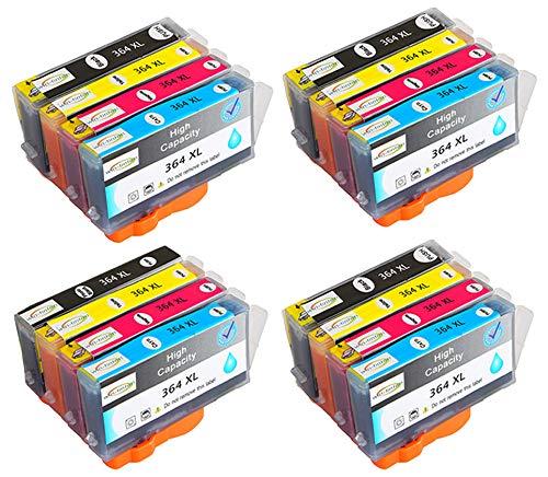 Reemplazo de Paquete de 16 Wintinten para Cartuchos de Tinta HP 364 364XL compatibles con impresoras HP Photosmart C5324, C5370, C5373, C5380, C5383, C5388, C5390, C5393, C6300, C6324, C6380