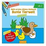 Mein erstes dickes Malbuch Bunte Tierwelt (Malbuch ab 2 Jahren) - Corina Beurenmeister