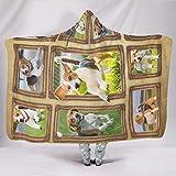 EPLstar Beagle - Manta de Franela para Viajes o Descansar en casa, poliéster, Blanco, 50x60 Inch