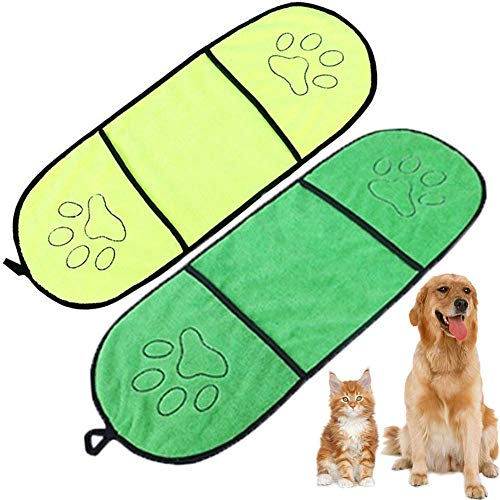 Dog Shammy Towel Set with Pockets Microfiber Super Absorbant $6.55 (45% OFF)