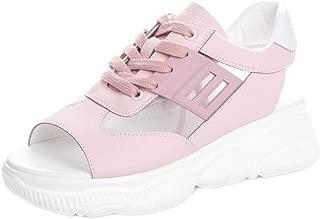 RAZAMAZA Women Fashion Peep Toe Sports Shoes Lace Up