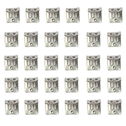 Kit de repuesto para tapicería de muebles, 4 piezas, clips, alambre para muebles, sofá, silla, sofá, reparación (30 clips de resorte)