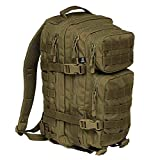 K&S Outdoors - Zaino militare militare Molle Tactical Hunter 25 l 40 l nero oliva sabbia zaino da caccia zaino trekking zaino da trekking zaino Daypack (verde oliva – Medium – 25L)