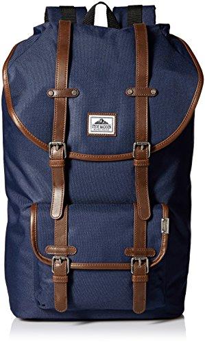 Steve Madden Men's Solid Nylon Utility Backpack, Navy, One Size