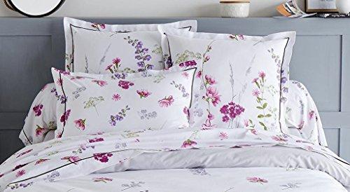 Funda de almohada Bonita estampado floral fondo blanco 50x70 ~ Tradilinge