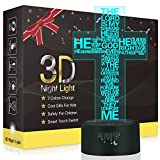 Jesus Easter Cross 3D LED Optical Illusion Lamps, Rquite 7 Color Change Touch Switch Art Sculpture Lights LED Desk Table Night Light Awesome Gift for Thanksgiving Day Halloween Christmas