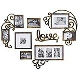 KCGNBQING 8 PCS Foto en Forma de corazón Fotografías Frames Frames Galería de Pared Kit, Sala de Estar Restaurante Europeo Mural Marcos Decorativos Conjuntos Marco de Fotos/Pared de Fotos