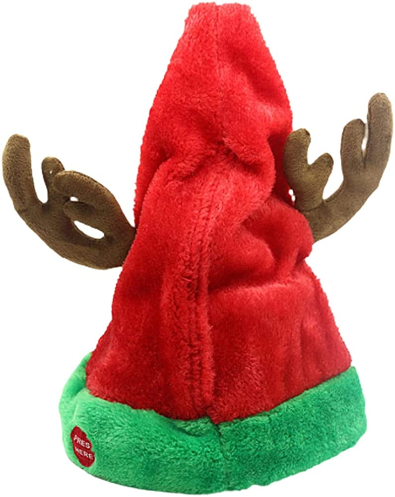 Many popular brands Christmas Hat Funny Santa with Musical Deer Headband Ca Horn outlet