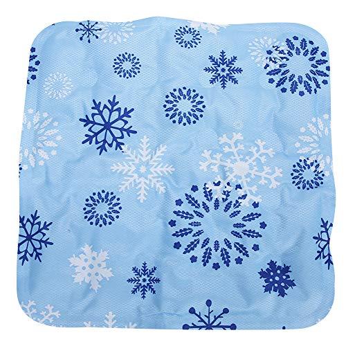 Almohadilla de enfriamiento, alfombrilla multifuncional Cool Ice Chair, almohadilla de asiento de enfriamiento de verano para mascotas, camas, viajes, automóviles, almuerzo de oficina (11.6 x 11.6in)