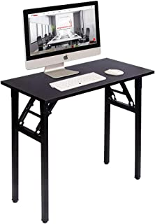 A White Coffee Tables Caicolour Pieghevole scrivania Semplice Pieghevole per PC da Tavolo Studio scrivania Stile Industriale Pieghevole Writing scrivania per Home Office