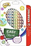 STABILO EASYcolors, Matita Colorata Ergonomica per Mancini, Astuccio da 12, Colori Assortiti
