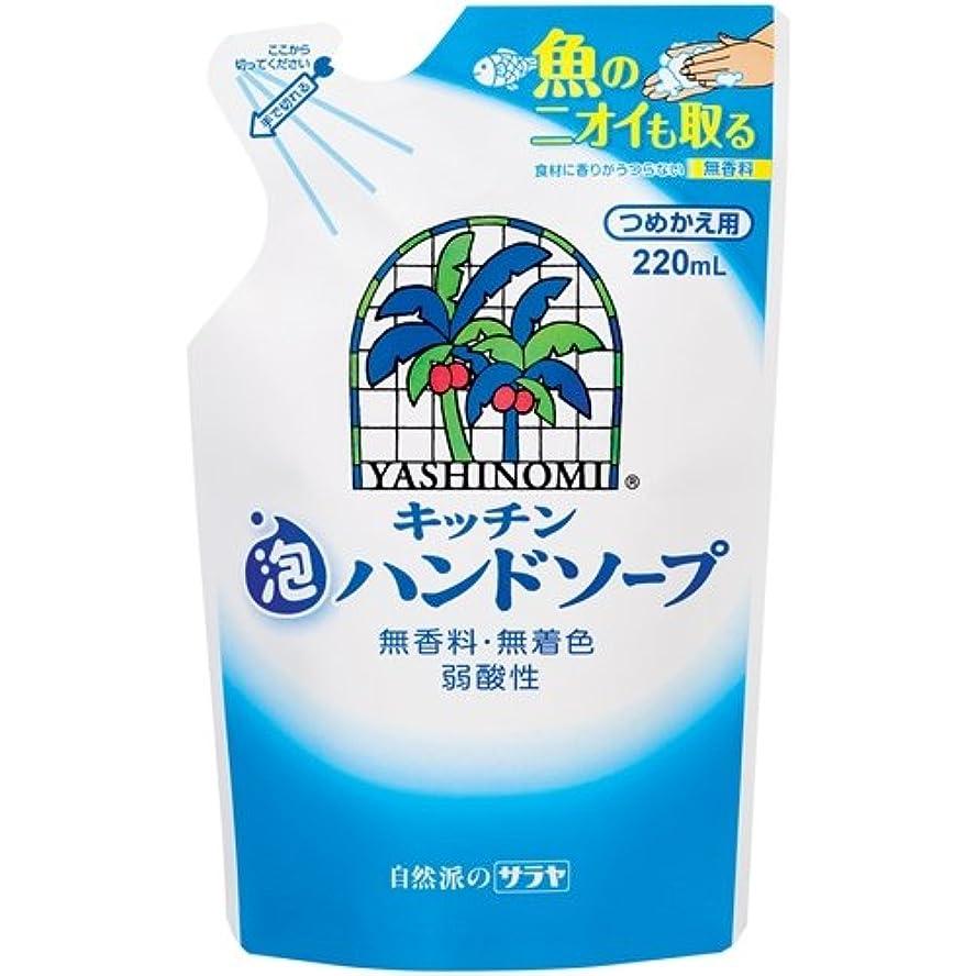 経験者フェローシップカレンダーサラヤ ヤシノミ キッチン泡ハンドソープ つめかえ用 220ml