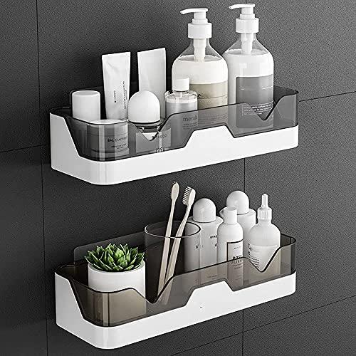 EigPluy 2 Stück Badezimmer Regal, Ohne Bohren Badezimmerregale, Duschregal Plastik Duschkörbe an der Wand montiert für Küchen und Badezimmer