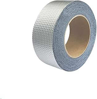 Fan-Ling One Roll Aluminium Foil Tape, WaterProof & UV Resistant Aluminium Foil Tape, Cost-Effective Glass Floor Roof Window Repair Tool,Perfect for HVAC, Duct, Pipe, Insulation and More (A:5cm x 5m)