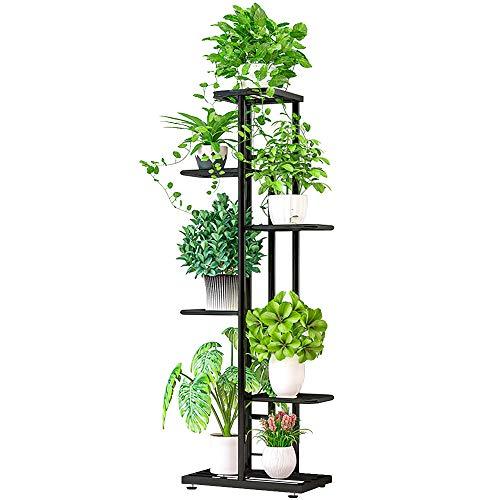 ZZBIQS - Soporte de 6 niveles de metal para plantas, con varios soportes para macetas, organizador de almacenamiento para esquina interior del balcón