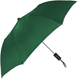 StrombergBrand Spectrum Popular Style Automatic Open Close Small Light Weight Portable Compact Tiny Mini Travel Folding Umbrella for Men and Women, Hunter Green