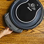 Shark ION Robot App-Controlled Robot Vacuum, RV761 - Black/Navy Blue (Renewed) 9 Schedule cleanings and control robot with Shark Clean(tm) app, Alexa, and Google Assistant. Powerful cleaning with more suction than Shark RV750. Multi-surface brushroll captures debris and hair on carpets and hard-floors.