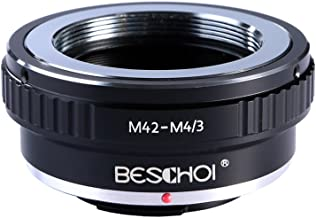 Beschoi M42 Screw Mount Lens to Micro 4/3 Four Thirds System Camera Mount Adapter, fits Olympus Pen E-P1 P2 P3 P5 E-PL1 PL1s PL2 PL3 PL5 PL6 E-PM1 PM2 OM-D E-M5 E-M1 Panasonic Lumix DMC-GH1 GH2
