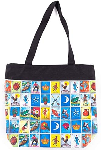 Loteria Mexican Bingo Tote Purse Original Loteria Mexicana Bingo Bag With Great Storage Space product image