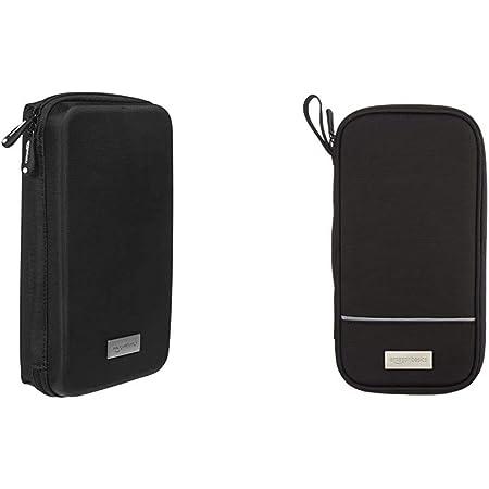 Amazon Basics - Custodia da viaggio universale per dispositivi elettronici e accessori (fotocamere, cellulari, GPS), colore: Nero & ZH1510030R5, Portadocumenti da viaggio con protezione RFID, Nero