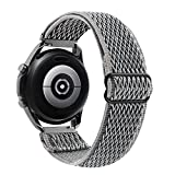 22mm Elastic Watch Bands Compatible with Samsung Galaxy Watch 46mm/Galaxy Watch 3 45mm/Gear S3 Frontier /Classic Adjustable Stretchy Nylon Sports Loop Replacement Straps (Storm Gray)
