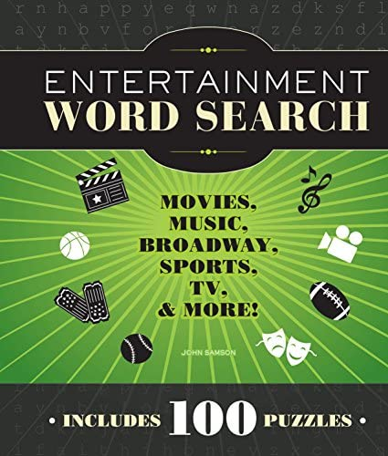 Entertainment Word Search Movies Music Broadway Sports TV More product image