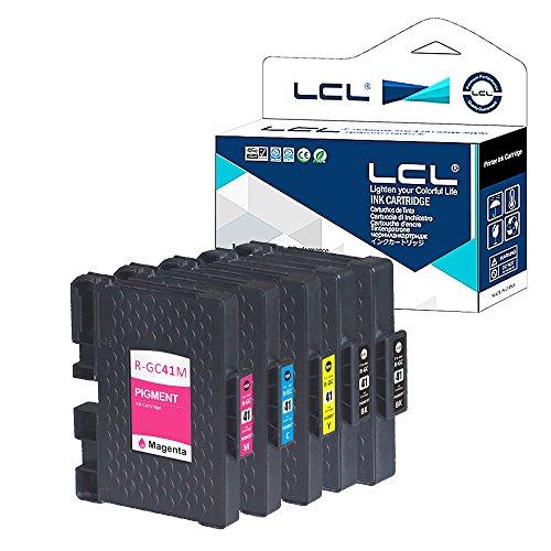 LCL Cartucce d'inchiostro Compatibile GC-41 GC41 GC41K GC41C GC41M GC41Y (5-Pack 2Nero Ciano Magenta Giallo) Sostituzione per Ricoh IPSiO SG 2010L/2100/3100/7100/3110SFNW