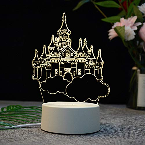 MHBY LED Light.USB LED Light Acrylic Bedside Table Desk Bedroom Decoration Gift Warm White Light Night Creative Light Acrylic Christmas Decoration | Night Light.