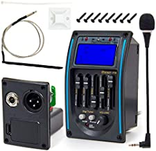 Kmise 5 Band Acoustic Guitar Preamp EQ Equalizer Piezo Pickup Tuner Amplifier LCD Mic 1 Set