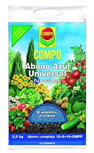 Compo Abono Azul Universal NovaTec 2,5 kg, Negro, 2.5kg