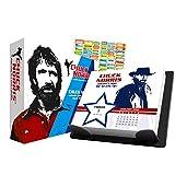 Chuck Norris 2021 Calendar, Box Edition Bundle - Deluxe 2021 Chuck Norris Day-at-a-Time Box Calendar with Over 100 Calendar Stickers (Chuck Norris Gifts, Office Supplies)