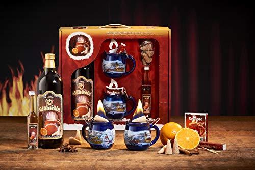 Feuerzangentasse Geschenkset, Klassisch, Blau/Winter - für Feuerzangenbowle
