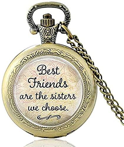 ZPPYMXGZ Co.,ltd Collar Cool Regalo de cumpleaños Insignia Escolar Reloj de Bolsillo Vintage Cool Snake Collar Retro para Mujeres Hombres con Regalos de Cadena