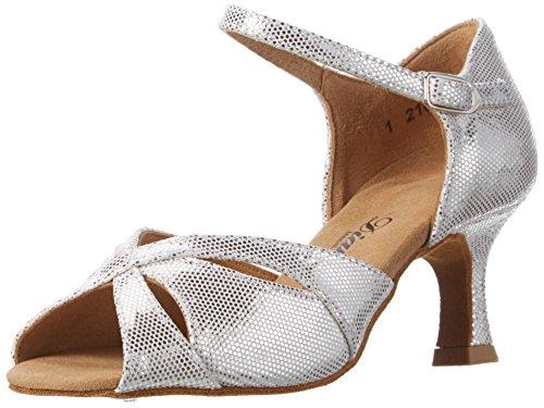 Diamant Damen Tanzschuhe 144-077-246 Standard & Latein, Silber (Weiß-Silber), 40 EU (6,5 UK)