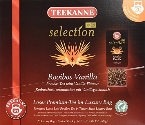 Teekanne Selection 1882 im Luxury Bag - Rooibos Vanille - mild, koffeinfrei, 20 Portionen, 1er Pack (1 x 80 g)