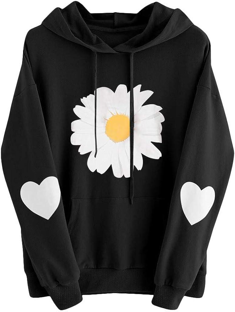 Cute Hoodies for Women, Womens Long Sleeve Cute Graphic Hoodie and Sweatshirt Casual Crewneck Loose Pullover Tops