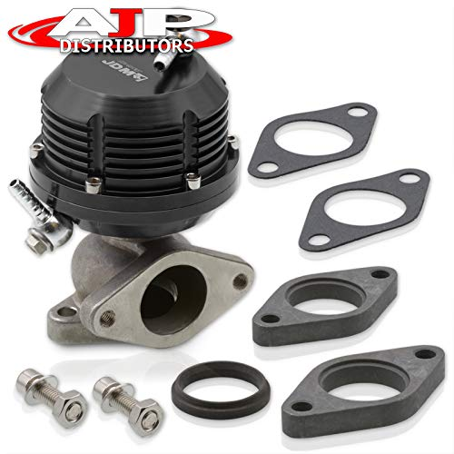 AJP Distributors Universal Wastegate External 35mm 38mm Exhaust Manifold 2 Bolt Flange Mount Jdm Aluminum Black