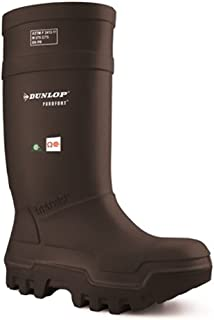 Dunlop E65203308 Purofort Thermo+ Full Safety Omega/EH Cold Protection Boot, Premium Insole, -58°F Cold Insulation, Steel Toe Cap, Black, Size 11