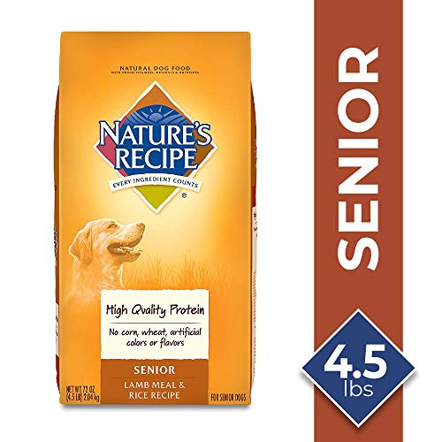 Nature's Recipe Senior Dog Food, Lamb Meal &...