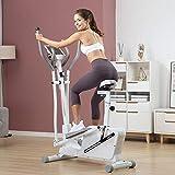 AORISSE Bicicleta Elíptica, 3 En 1 Control Magnético Fitness Cross Trainer Máquina...